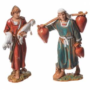 Pastores, 10 pdz, para belén de Moranduzzo con estatuas de 6,5 cm s4