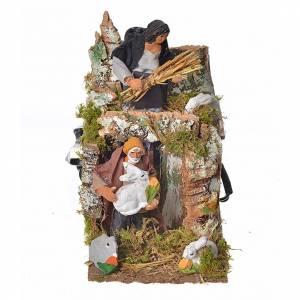 Pastores movimiento 8 cm. con conejos s1