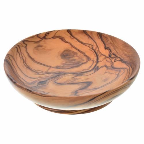 Paten bowl in Assisi seasoned olive wood, 14.5cm diameter s1