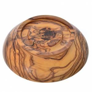 Paten bowl in Assisi seasoned olive wood, 14.5cm diameter s3