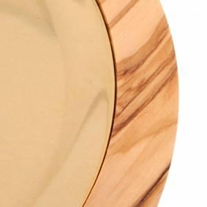 Paten in olive wood, 17cm diameter s3