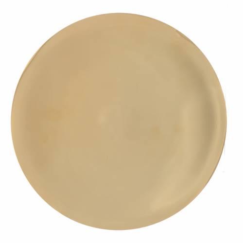 Patena ottone liscia lucida cm 25 s1