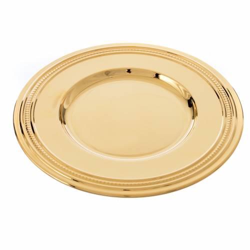 Patène laiton doré 19cm s3