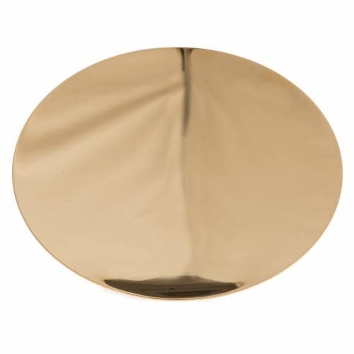 Patène laiton doré lisse 15cm s1