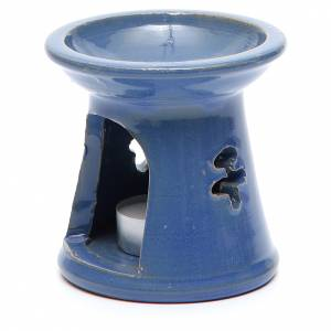 Pebetero vela terracota azul s2