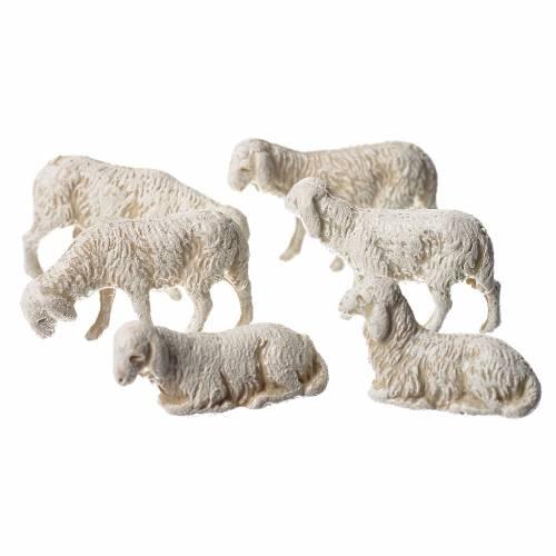 Pecore 6 soggetti presepe Moranduzzo 3,5 cm s2