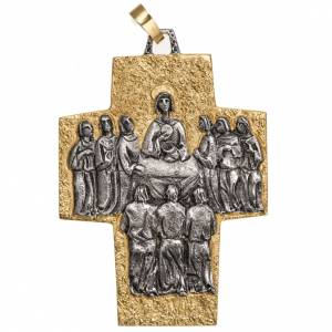 Pectoral cross in brass, Last Supper s1