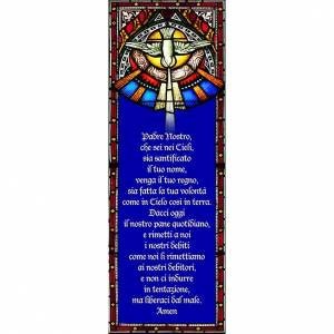 Pegatina para vidrios, Padre Nuestro 10,5x30 s1