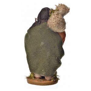 Pèlerin avec fagot crèche Napolitaine10 cm s2