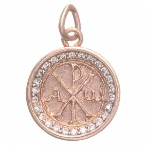 Pendant charm in rose 800 silver with Pax symbol 1.7cm s1