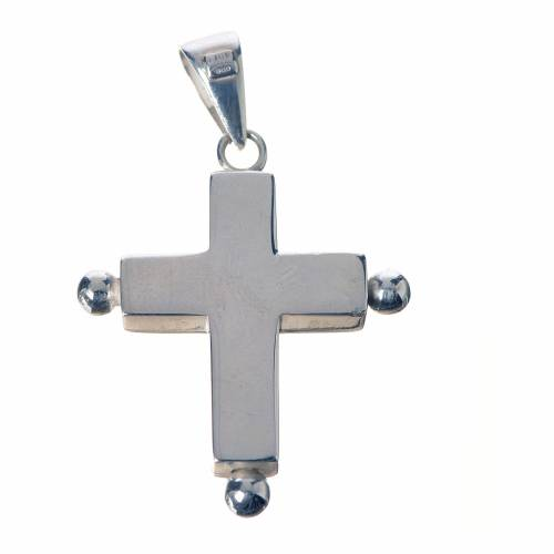 Pendant cross in 800 silver with relic case s2