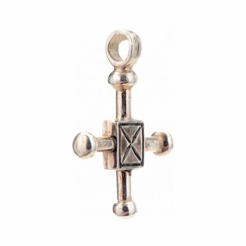 Pendant cross Saint Geminianus in sterling silver 2,7x2,2cm s2
