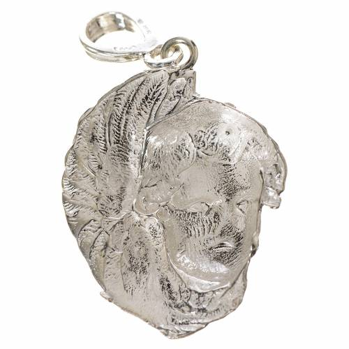 Pendant in 800 silver with putto face s2