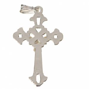Pendant, perforated crucifix in silver 3x2cm s2