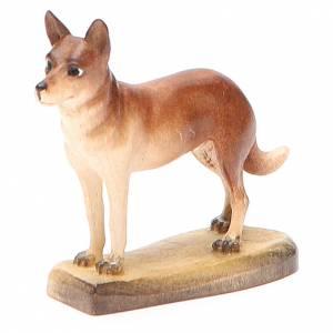 Belén Val Gardena: Perro 12 cm madera pesebre mod. Valgardena