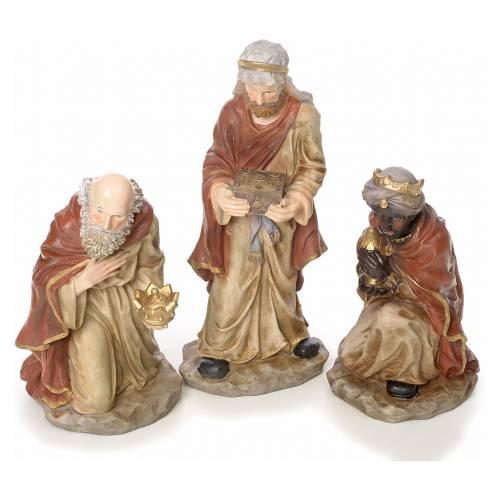 Pesebre completo 50cm resina 10 estatuas mod. color s3