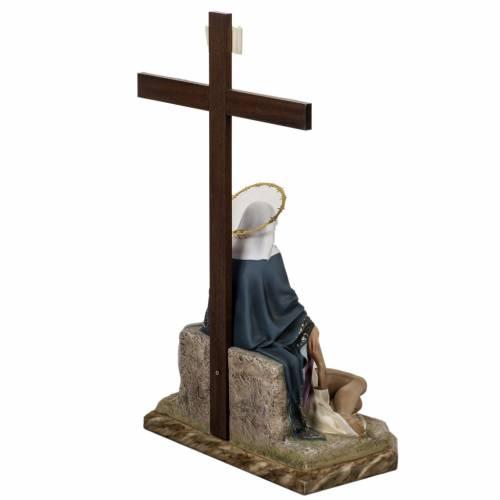 Pietà statue 50cm in wood paste, elegant decoration s11