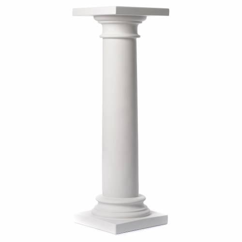 Pilier rond et lis marbre reconstitué, 100 cm 1