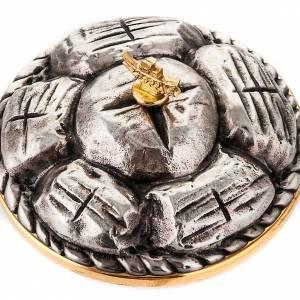 Píxide de latón plateado cesta de pan s3