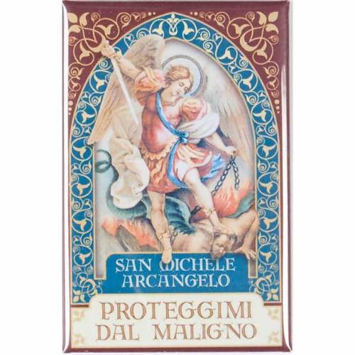 Magnete San Michele Arcangelo oro s1