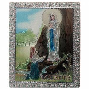 Magnets religieux: Planche magnétique Notre Dame de Lourdes