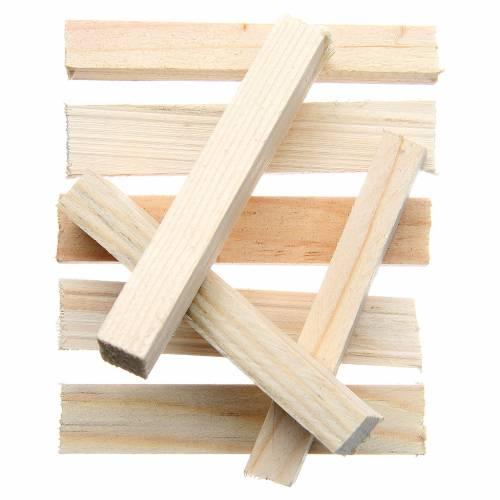 Planches en bois miniature crèche 8x1x1,5 cm set 8 pcs s1