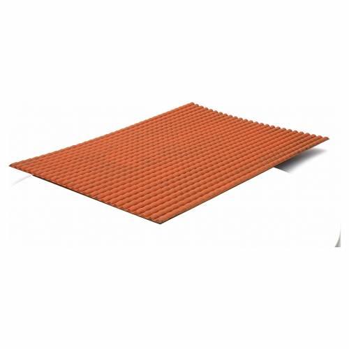 Plateau toit en tuiles pour crèche 70x50 cm s2