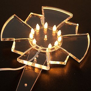 Crowns and halos for religious statues: Plexiglas luminous halo with bulbs