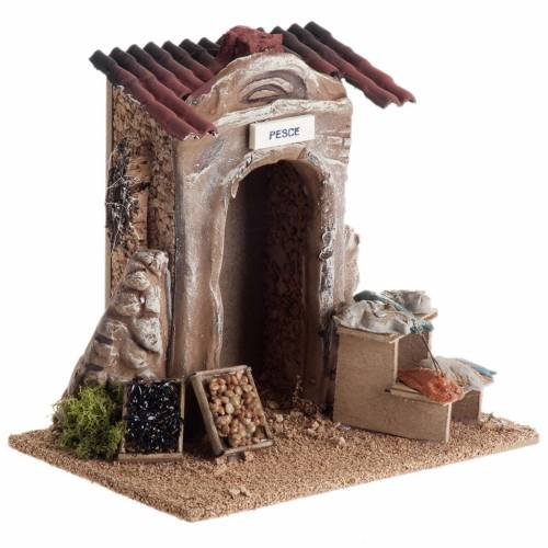 Poissonnerie miniature crèche Noel s4