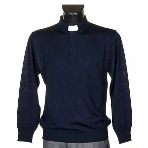 Polo clergy blu s1