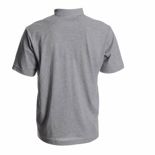 Polo maglia clergy grigio 100% cotone s2
