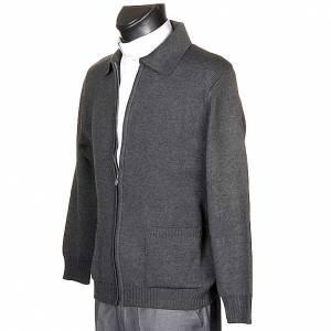 Jackets and fleece jackets: Polo-neck dark grey jacket