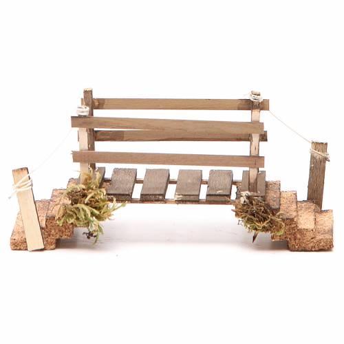 Pont en bois et liège 8x16x5,5 cm crèche napolitaine s4