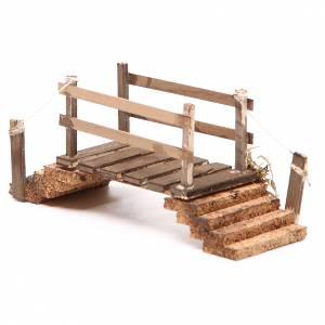 Pont en bois et liège 8x16x5,5 cm crèche napolitaine s2