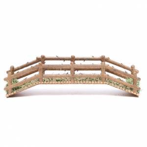 Ponte presepe, ruscelli, staccionate: Ponte in pvc effetto legno 21x5xh.4 cm