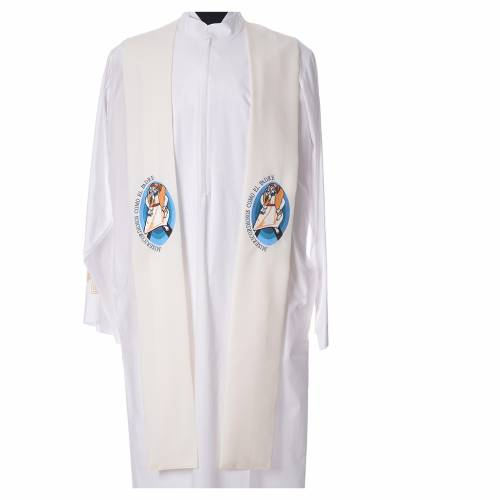 STOCK Pope Francis' Jubilee Big Stole with SPANISH machine embroided logo s4