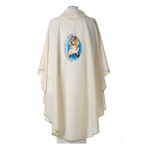 STOCK Pope Francis' Jubilee Chasuble with Latin writing s3