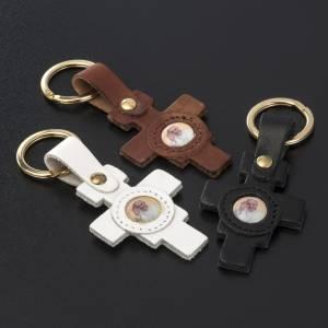 Pope Francis key ring cross shaped s2