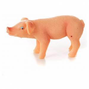 Porc en résine crèche de noël, 6-8-10 cm s2
