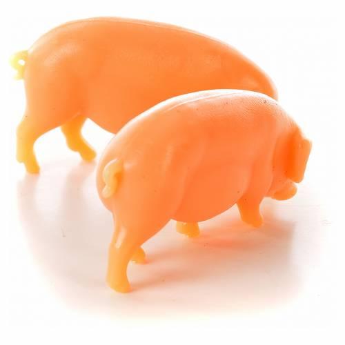 Porc en résine pour crèche 6-8-10 cm  2 pcs s2