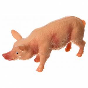 Porc résine pour crèche 10-12 cm s2