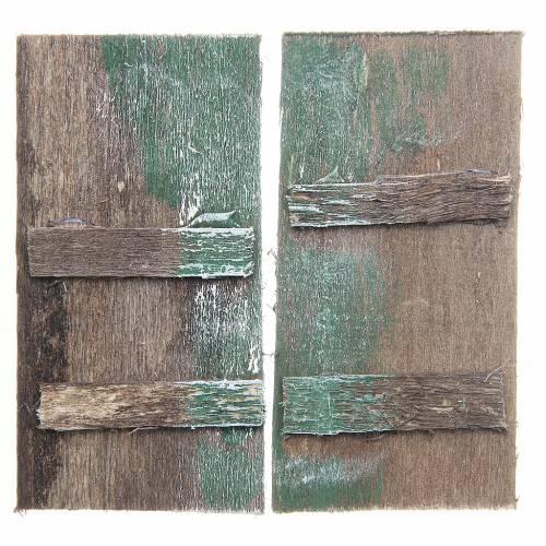 Porta in legno  8,5x4,5 rettangolare set 2 pz s1