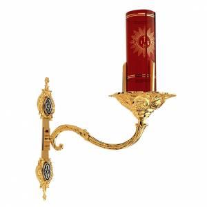 Portabicchiere per Santissimo aplique da muro ottone dorato s1