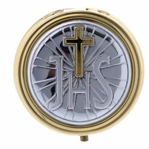 Portaostia JHS metallo placca alluminio finiture oro 5 cm s1