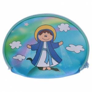 Portarosario borsellino 10x8 cm immagine Madonna Miracolosa s2