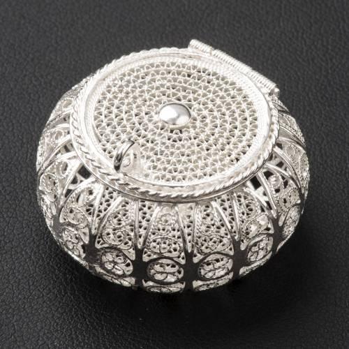 Portarosario tondo argento 800 filigrana s2
