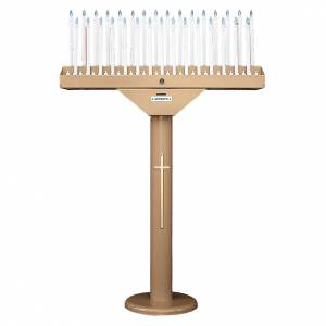 Porte-cierge électrique à 31 bougies ampoules 12V et transformateur s1