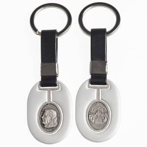 Porte-clés: Porte clef Pape Benoit XVI métal avec bande