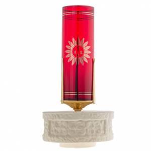 porte verre pour exposition eucharistie cylindre couleur camel s4