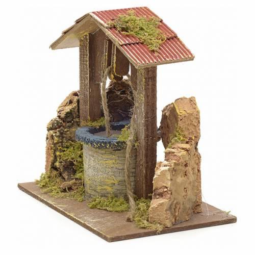 Pozo pesebre con techo y piedras 15x15x10 cm s2